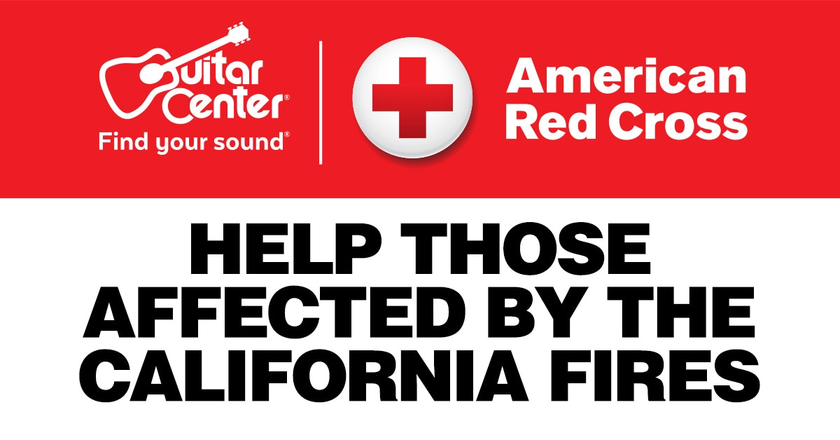 Guitar Center Teams Up with American Red Cross on California Wildfire Relief