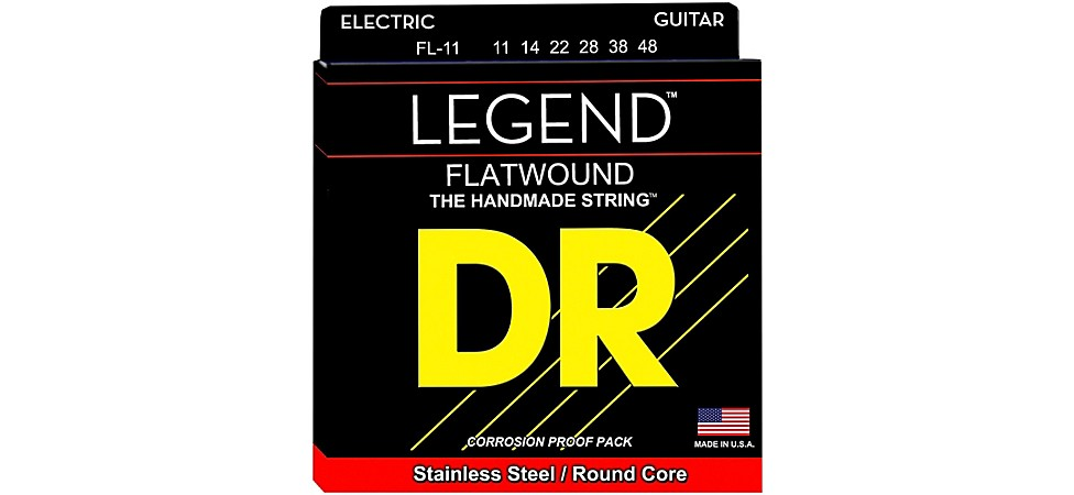 DR Strings Legend Extralife Flatwound Electric Guitar Strings