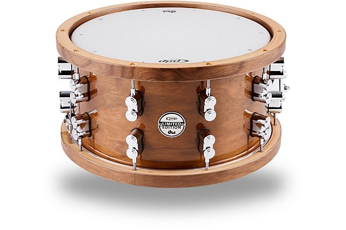 PDP Dark Stain Maple and Walnut Snare Drum