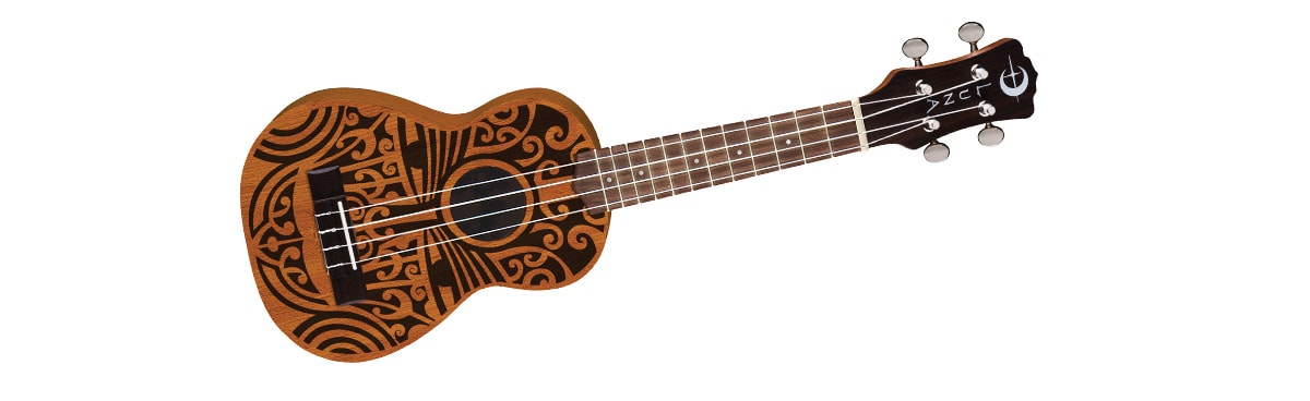 Luna Guitars Tribal Soprano Ukulele Satin Natural