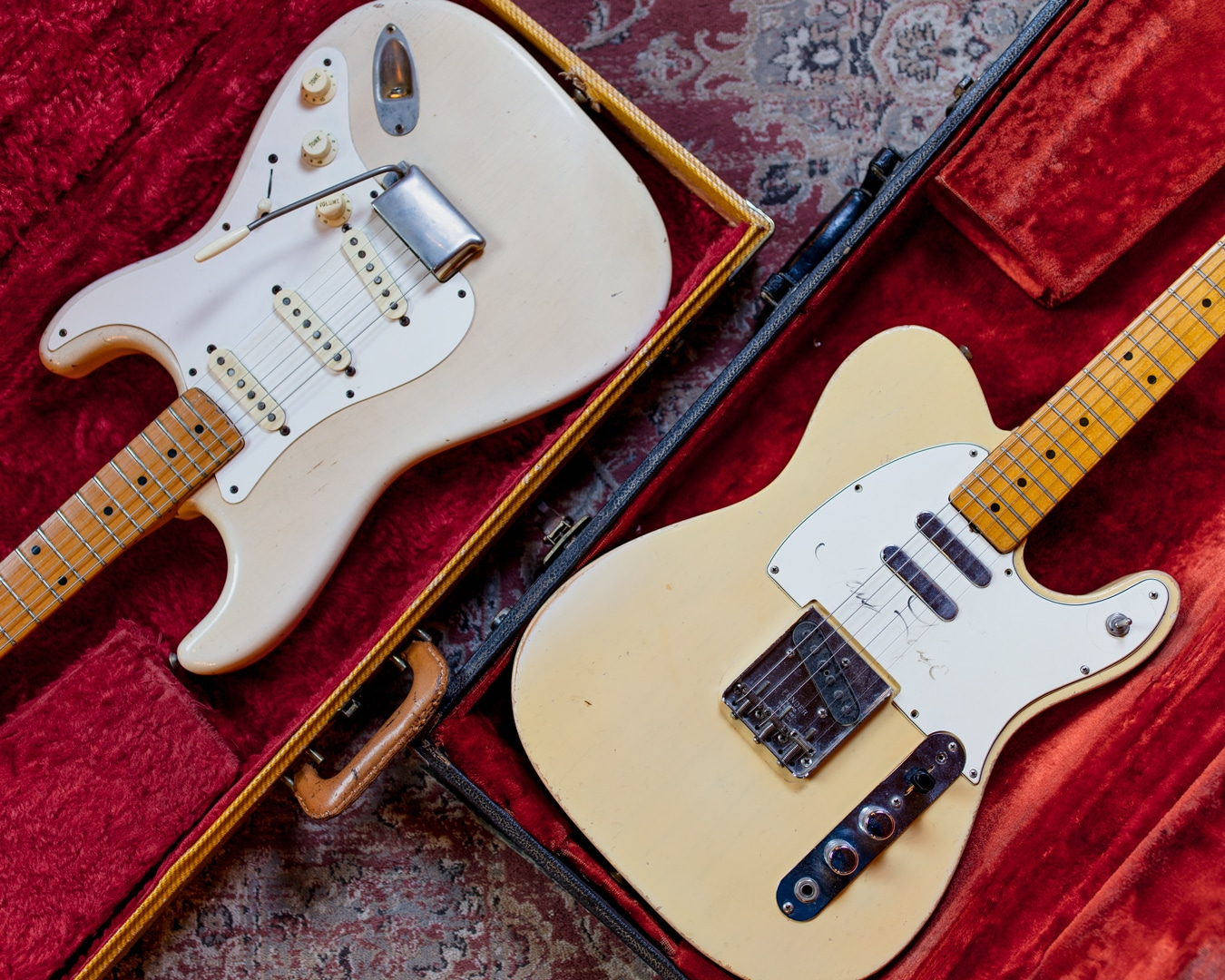 "Fender ""Mary Kaye"" Stratocaster and Mary Kaye's Fender Telecaster"
