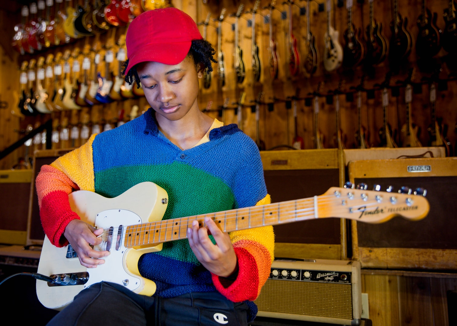 Melanie Faye plays Mary Kaye's Telecaster at Guitar Center Hollywood
