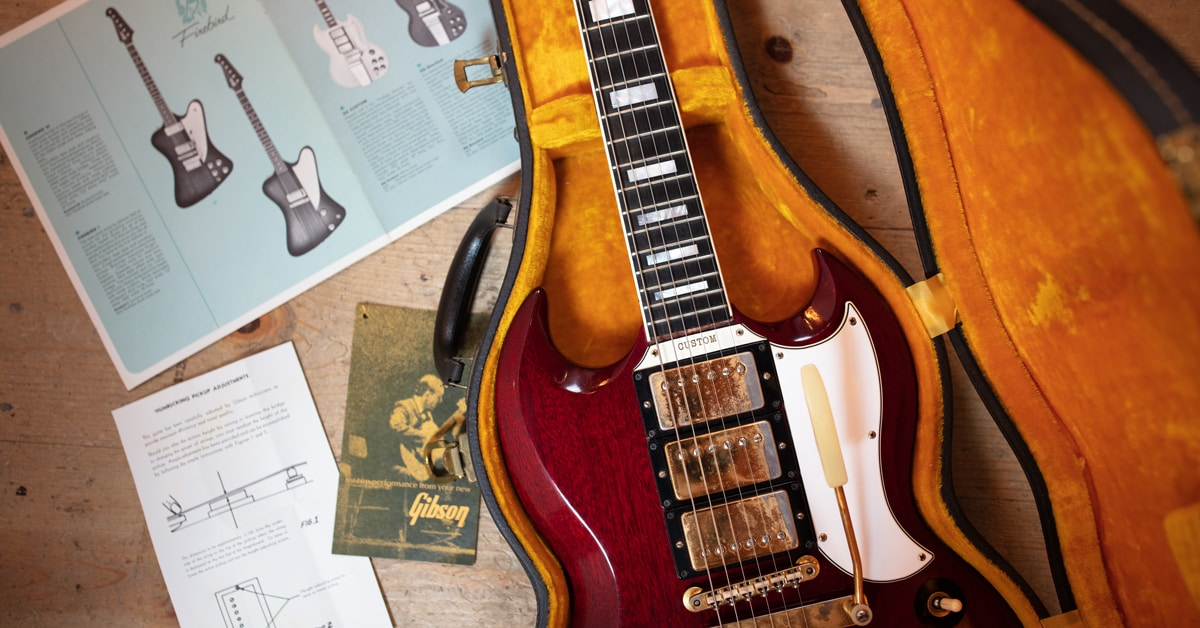 Vintage Guitar Finds | 1963 Gibson SG Custom Cherry