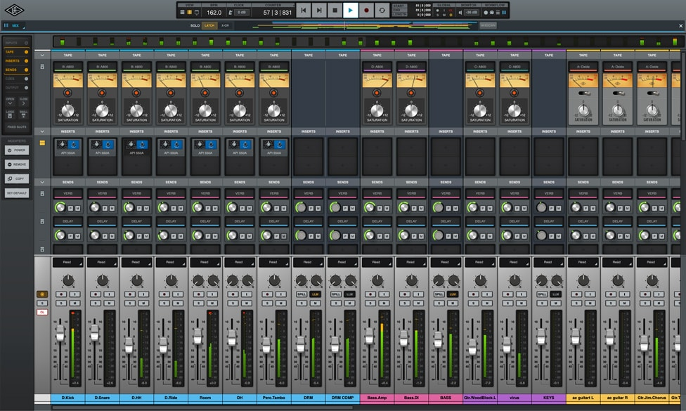 A closer look at the mixer interface in UA's LUNA