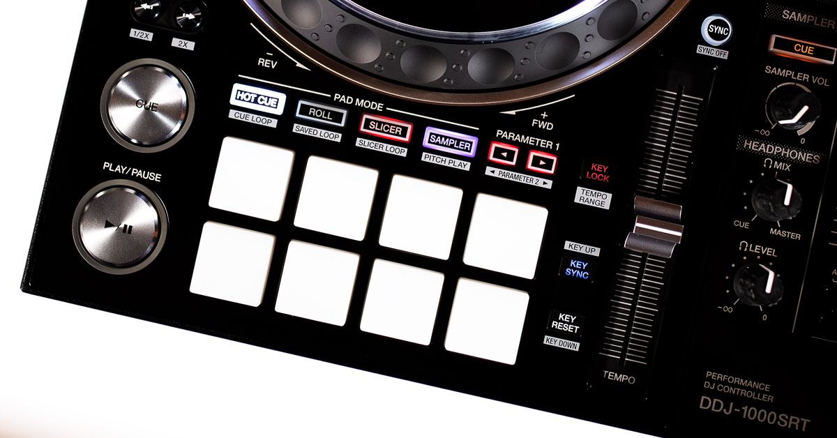 The pads section of the DDJ-1000SRT by Pioneer DJ