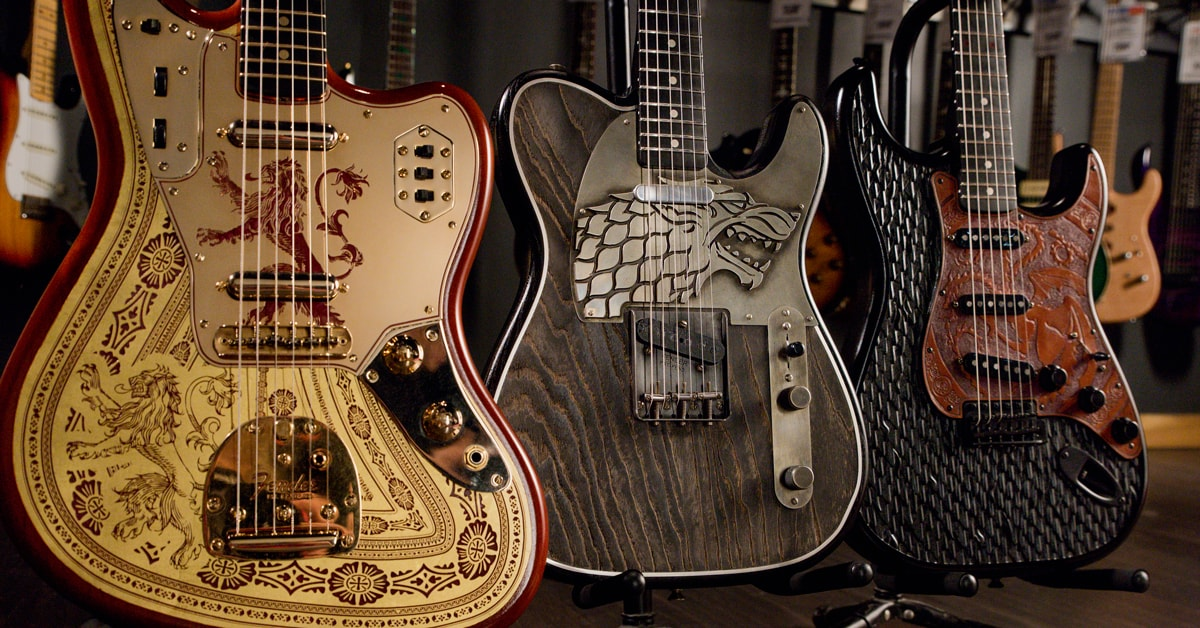 Fender Game Of Thrones Sigil Guitars | D.B. Weiss' Personal Collection