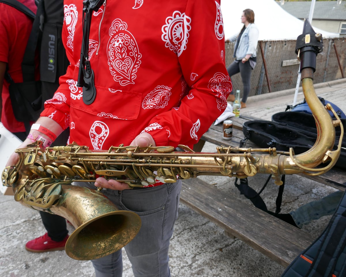 Etienne of Tank and the Bangas' Saxophone