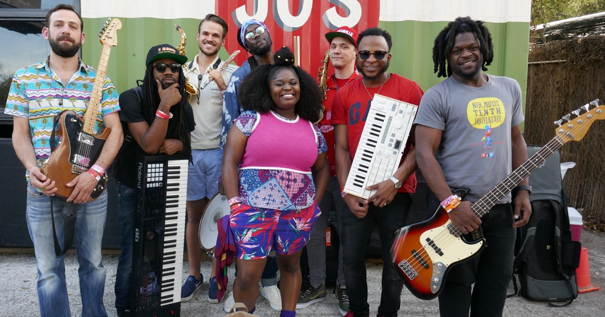 Tank and the Bangas: Backstage at SXSW