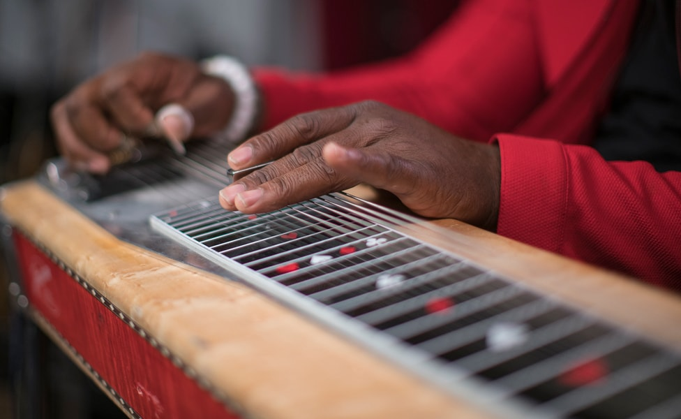 Robert Randolph and his signature pedal steel guitar