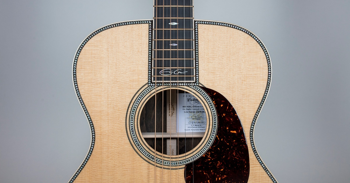 Martin 00042-EC-Z Eric Clapton Crossroads Ziricote Acoustic Guitar | Crossroads Collection