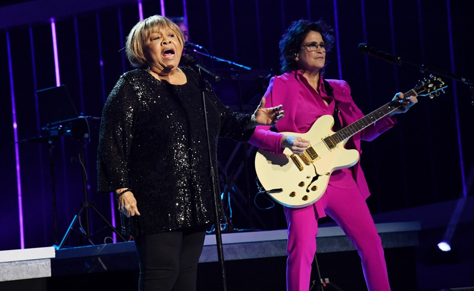 "Mavis Staples and Wendy Melvoin perform at ""Let's Go Crazy"" Prince Tribute - Courtesy of the Recording Academy®/ Getty Images © 2020"