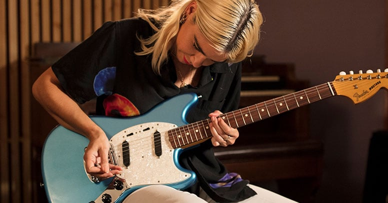 Fender Stratocaster Guitars Guitar Center >> Watch Gothic Tropic Play Her Songs On The Fender Vintera Offset