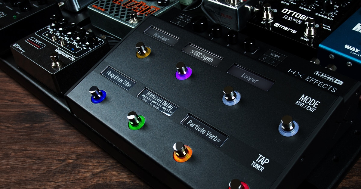 Line 6 Announces the HX Effects Guitar Effects Processor