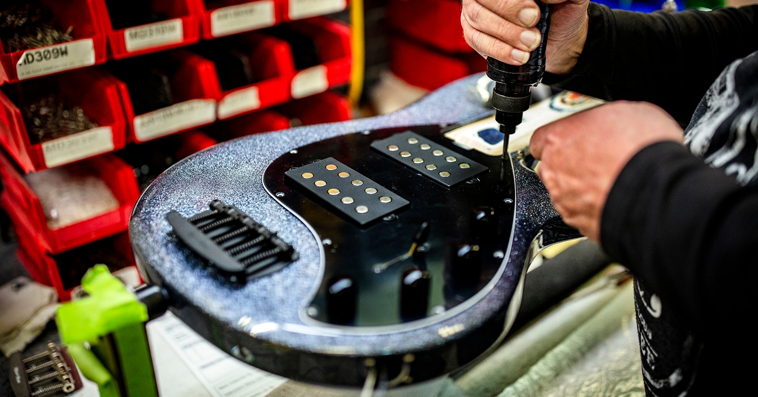 Ernie Ball Music Man StingRay5 In Final Assembly