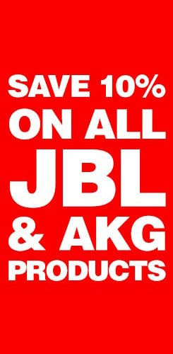Save 10 percent on all JBL and AKG products