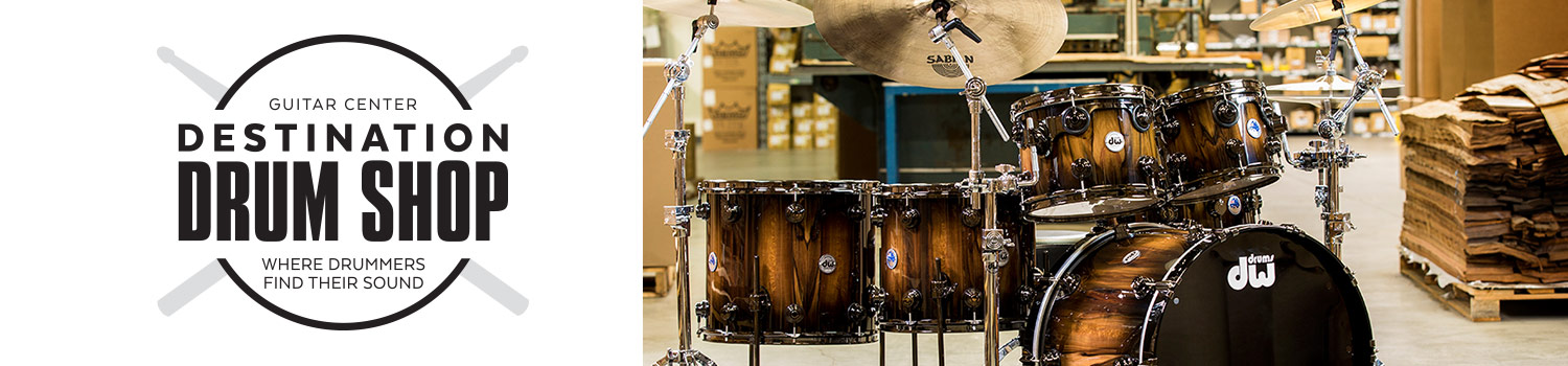 Guitar Center - Destination Drum Shop.  Where Drummers Find Their Sound.