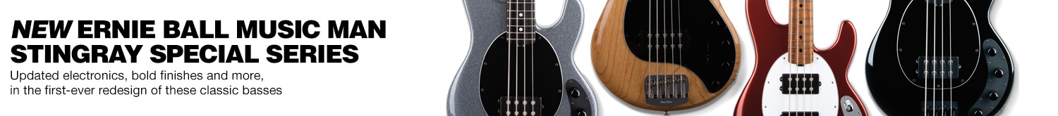 New ernie ball music man stingray special series