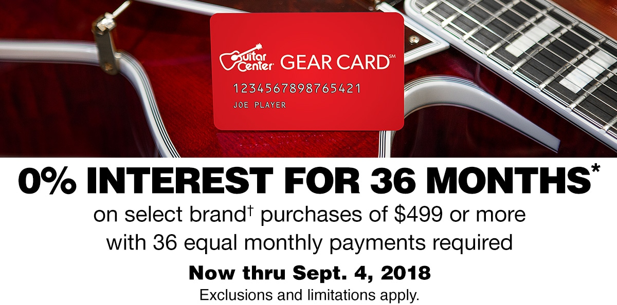 0% interest for 36 months, on select brand purchase of $499 or more with 36 equal monthly payments required. Now thru Sept. 4, 2018. Exclusions and limitations apply.
