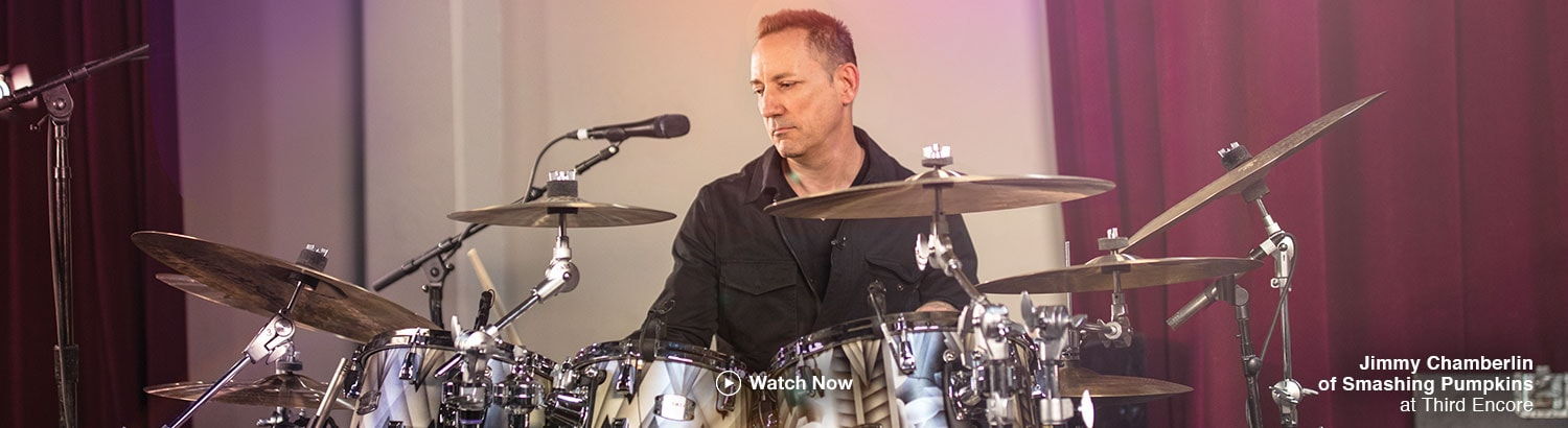Jimmy Chamberlin of Smashing Pumkins at Third Encore.