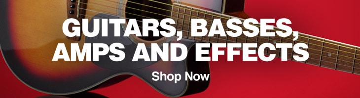 Guitars, basses, amps and effects