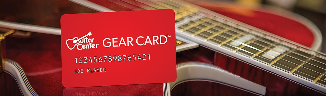 Guitar Center Gear Card