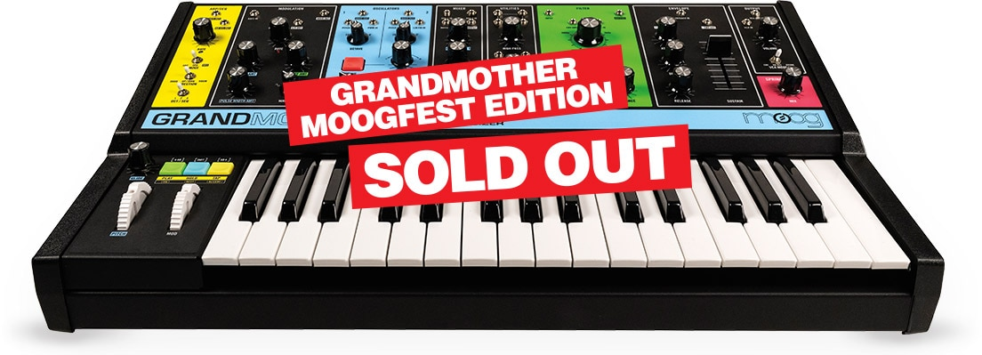 Celebrating moogfest with the greatest synth sale on the planet. Sold out