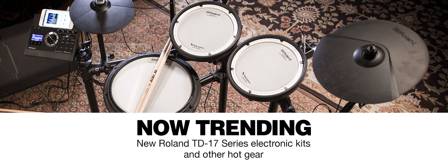 Now Trending. New Roland TD-17 Series electronic kits and other hot gear