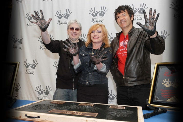 Iconic rock band Blondie is inducted into RockWalk on May 22, 2006.