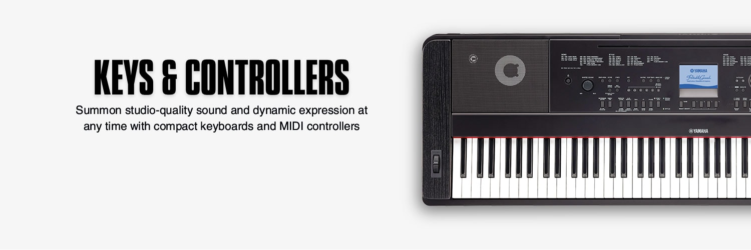 Keys and Controllers. Summon studio-quality sound and dynamic expression at any time with compact keyboards and MIDI controllers