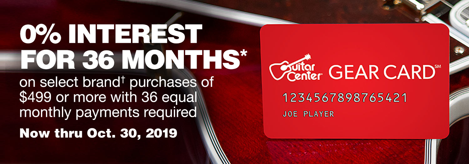 0% interest for 36 months* on select brand purchases of $499 or more with 36 equal monthly payments required. Now thru Oct. 30, 2019