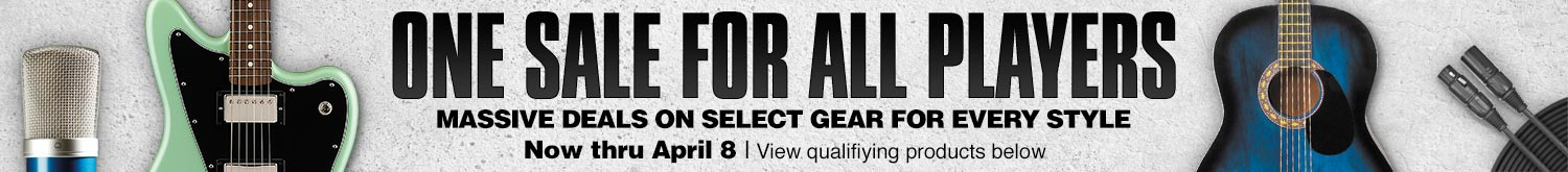 One sale for all players. Massive deals on select gear for every style. Now thru April 8. View qualifying products below.