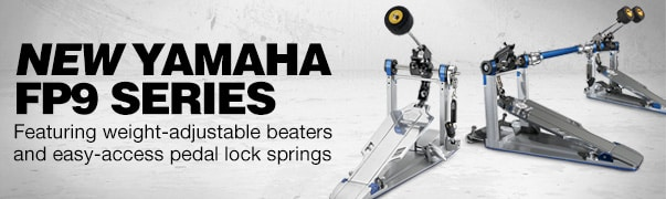 New Yamaha FP9 series. Featuring weight-adjustable beaters and easy-access pedal lock springs