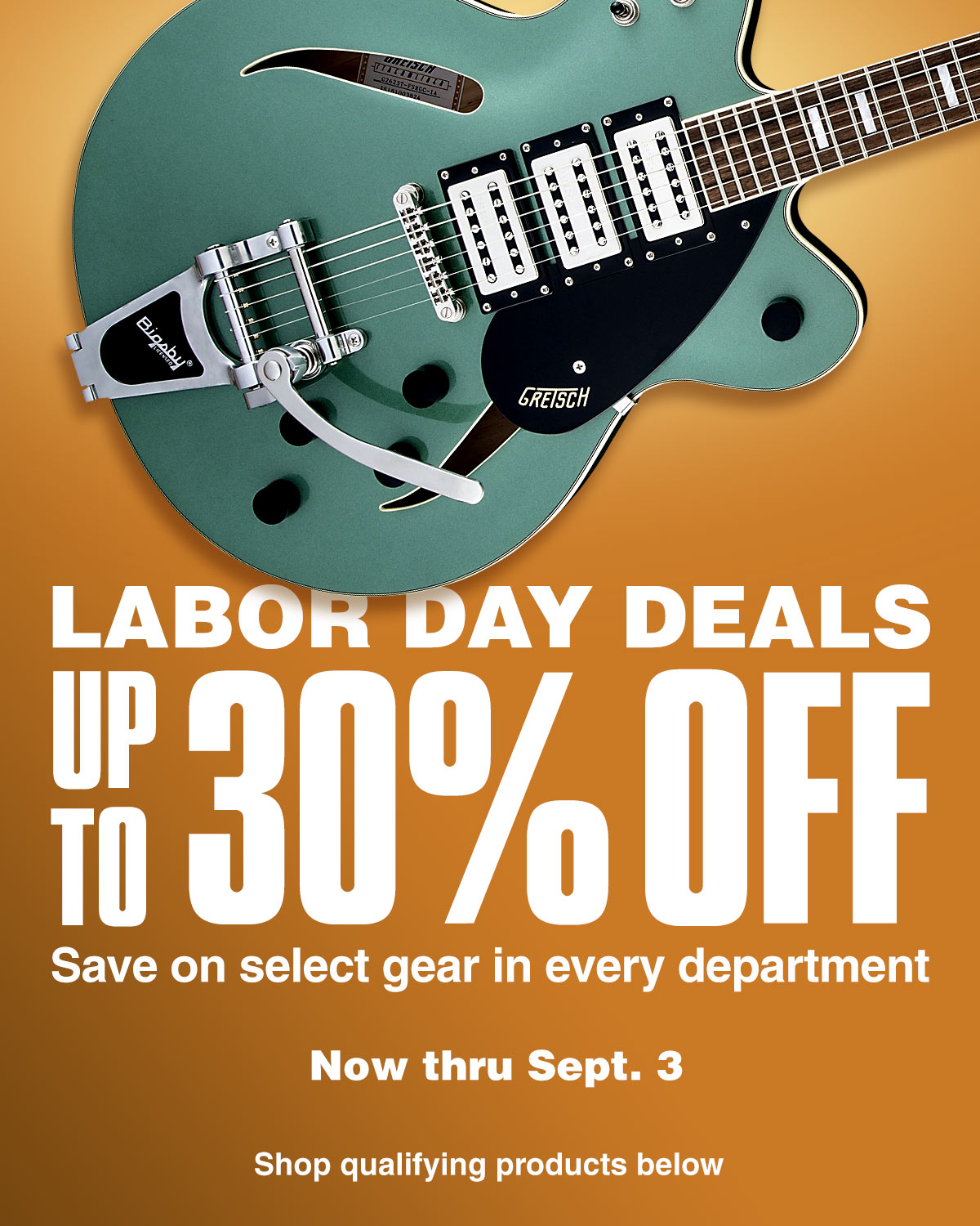 Labor Day Deals. Up to 30 percent off. Save on select gear in every department. Now thru September 3. Shop qualifying products below.
