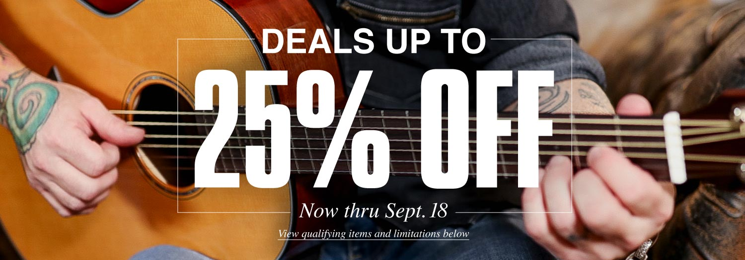 photograph relating to Guitar Center Printable Coupon titled Up towards 25% Off