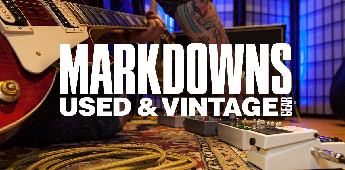 markdowns, used and vintage gear