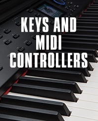 Keys and MIDI controllers.