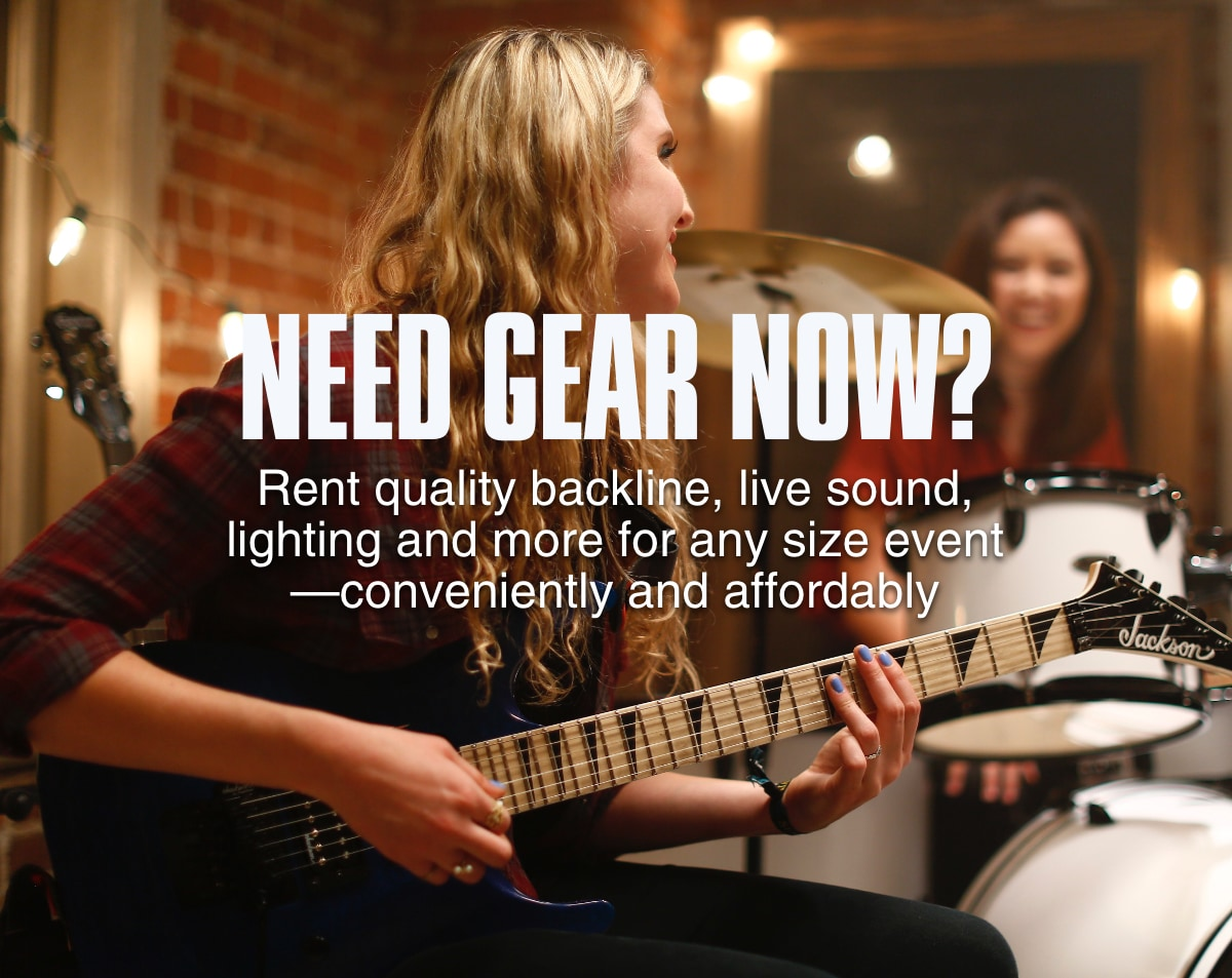 Need gear now? Rent quality backline, live sound, lighting and more for any size event, connectivity and affordably.