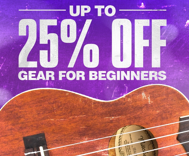 Up to 25 percent off gears for beginners.