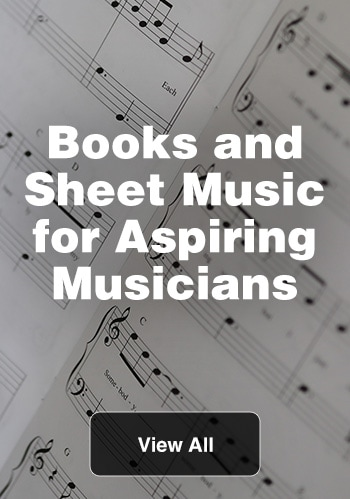 Books and sheet music for aspiring musicians