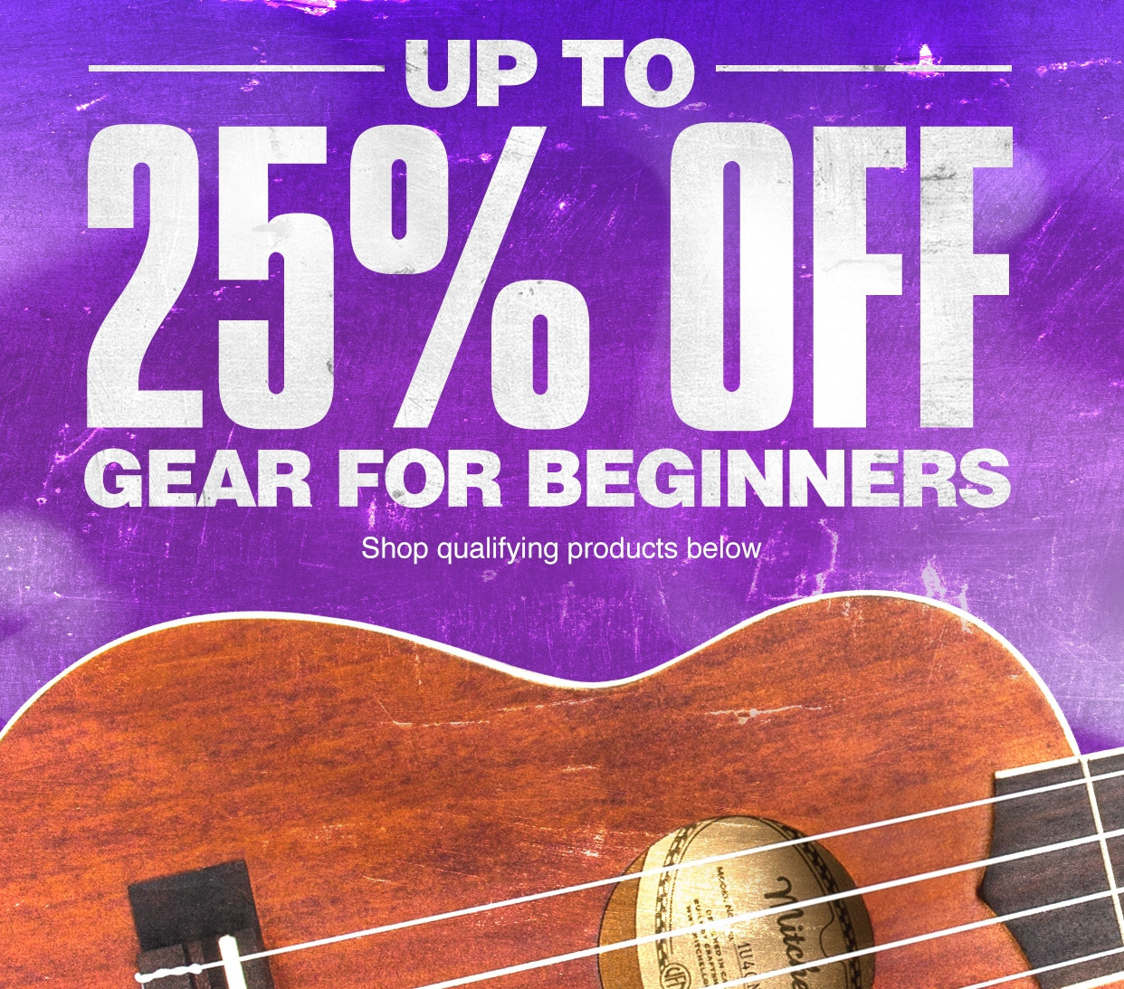 Up to 25 percent off gears for beginners. Shop qualifying products below.
