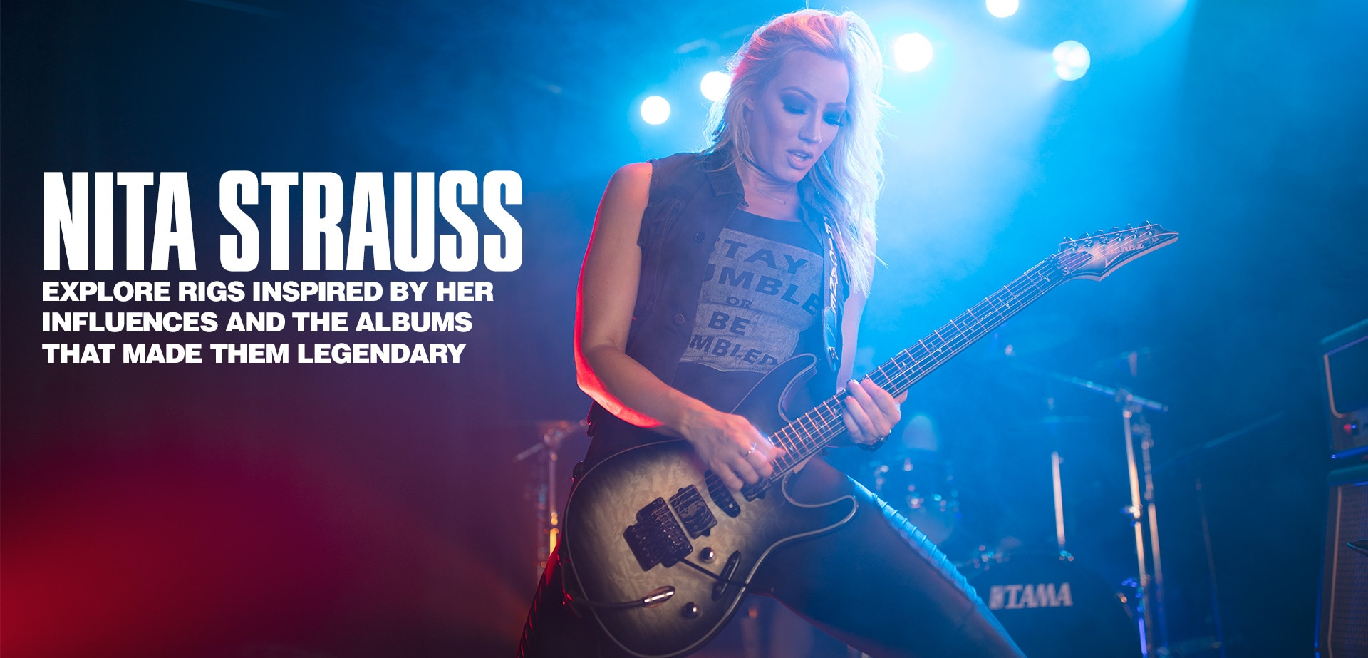 Nita Strauss explore rigs inspired by her influences and the albums that made them legendary.