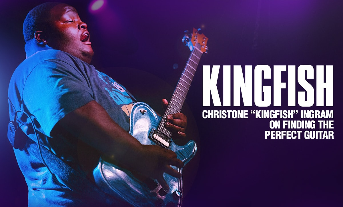 Kingfish. Christone Kingfish Ingram of finding a perfect guitar.