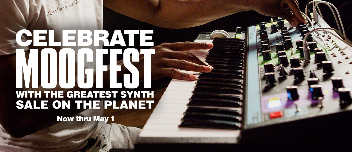 Celebrate Moogfest with the greatest synth sale on the planet. Now thru May 1