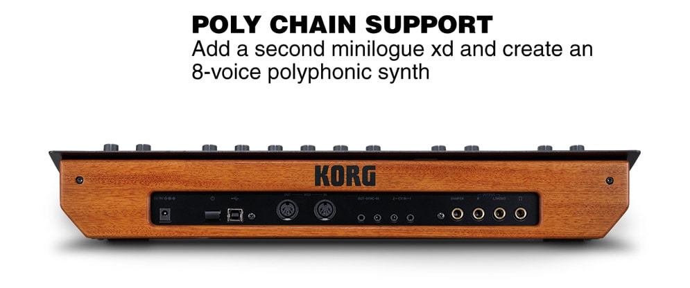 Poly Chain Support. And a second minilogue xd and create an 8-voice polyphonic syth