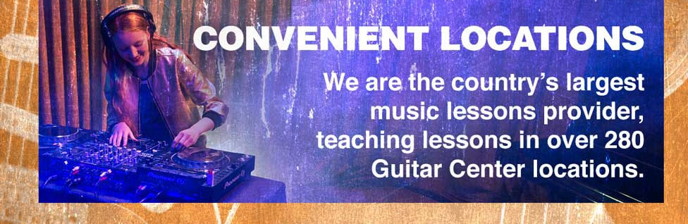 Convenient Locations. We are the country's largest music lessons provider, teaching lessons in over 280 Guitar Center locations.