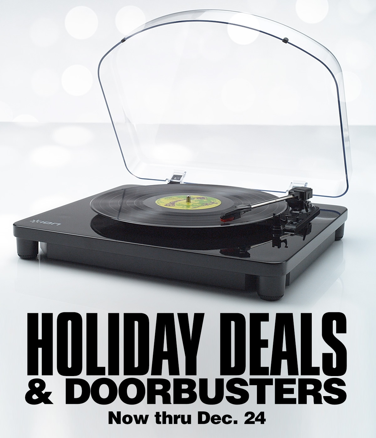 <h1>Holiday Deals</h>. Now thru December 24.
