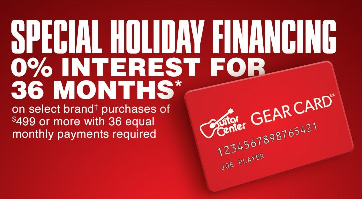 Special Holiday Financing 0 Percent Interest for 36 Months* on select brand purchases† of 499 dollars or more with 36 equal monthly payments required