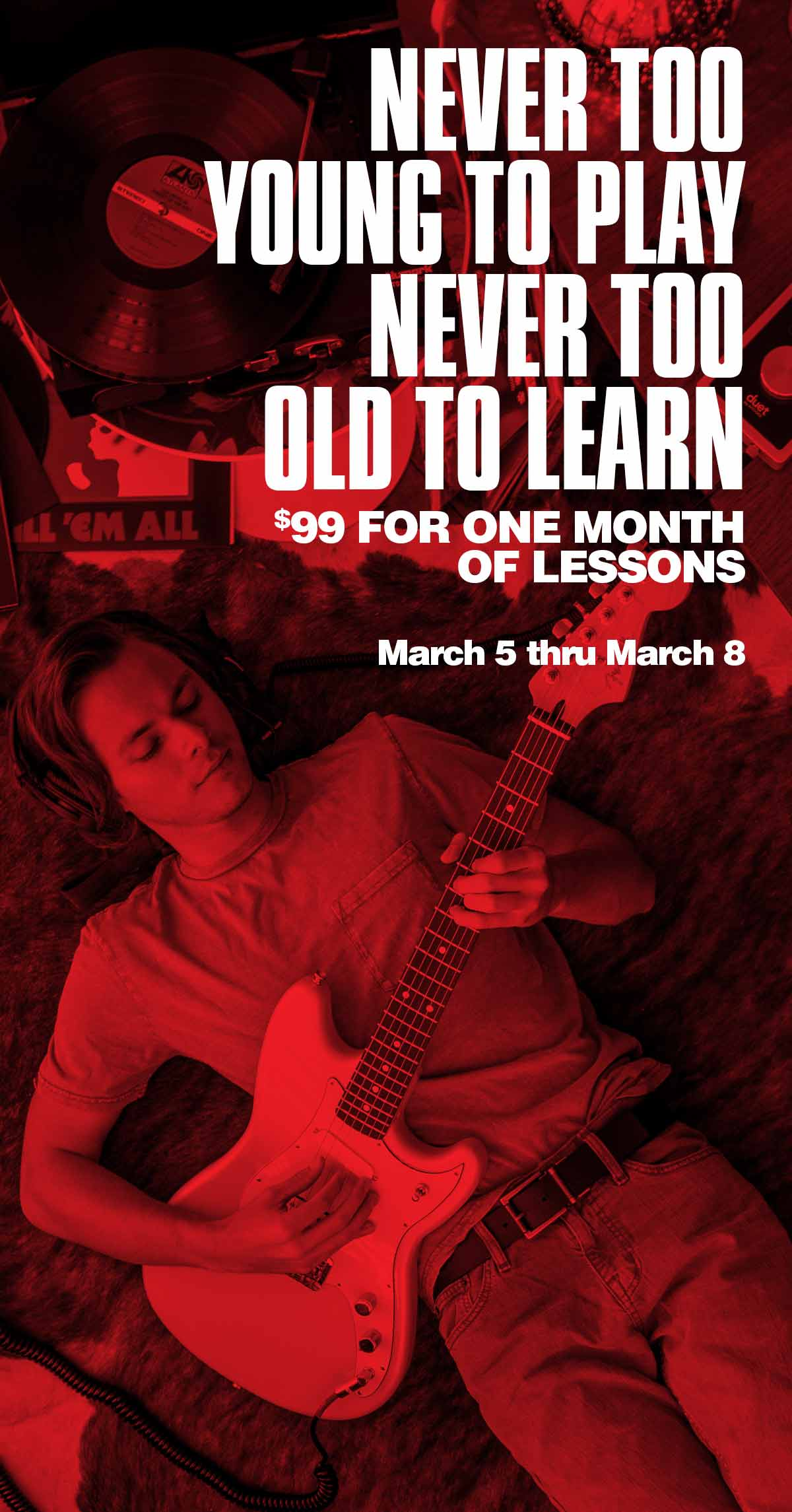 NEVER TOO YOUNG TO PLAY