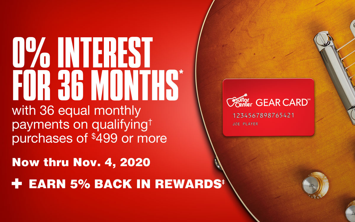 0% interest for 36 months with 36 equal monthly payments on qualifying purchases of 499 dollars or more. Now thru November 4, 2020. + Earn 5% back in rewards.