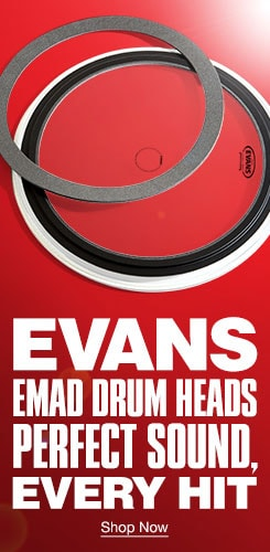 Evans Emad Drum Heads. Perfect Sound, Every Hit. Shop Now